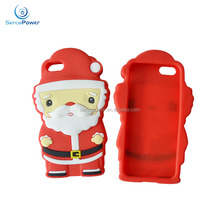 Christmas Festive Santa Reindeer Tree Clear 3D Silicone Phone Case Cover For iPhone 5 5S & 6 6S