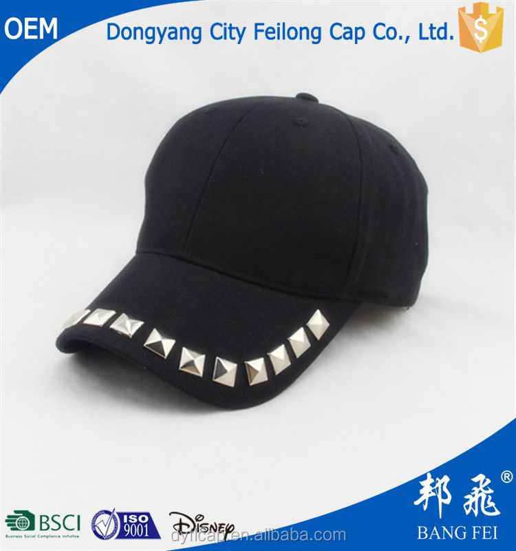 Black oxford fabric cool Mu nail decoration baseball cap