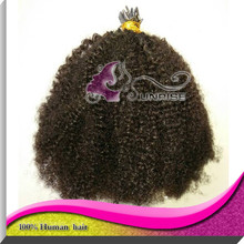 Afro kinky curly i tip hair extensions 100 keratin tip human hair extension