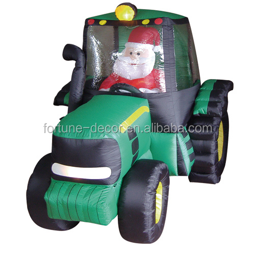 150cm/5ft inflatable santa claus drive the green car for christmas decoration