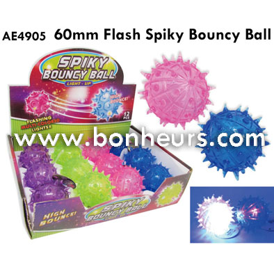 2016 Novelty Toy 60MM Flash Spiky Bouncy Ball
