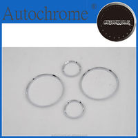 Hot sale triple plate chrome dash board gauge ring set for BMW E30 3 Series