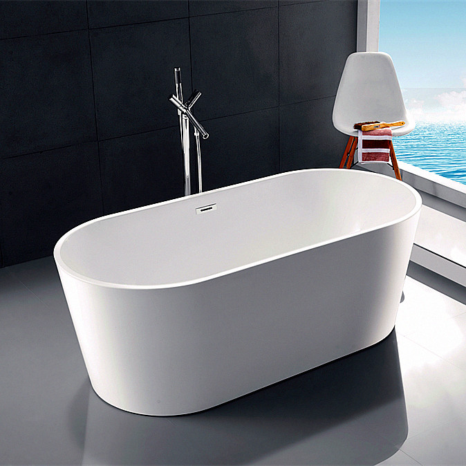 1.5m sumptuous large rectangle thin edge adult white tub solid durable pop up drain pump two sided acrylic freestanding bathtub