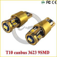 High power 12v led car W5W 14K T10 15w with cree T10 led gold smd bulbs for sale