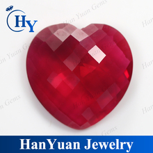 heart shape faceted cut synthetic semi precious stone for jewelry