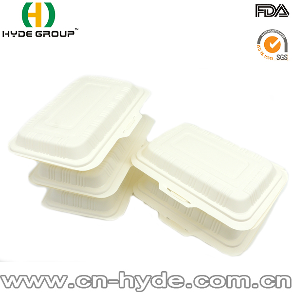 Disposable Compostable Corn Starch Takeaway Lunch Box