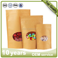 kraft stand up zip pouch brown kraft paper bags dried food packaging bags stand up pouch