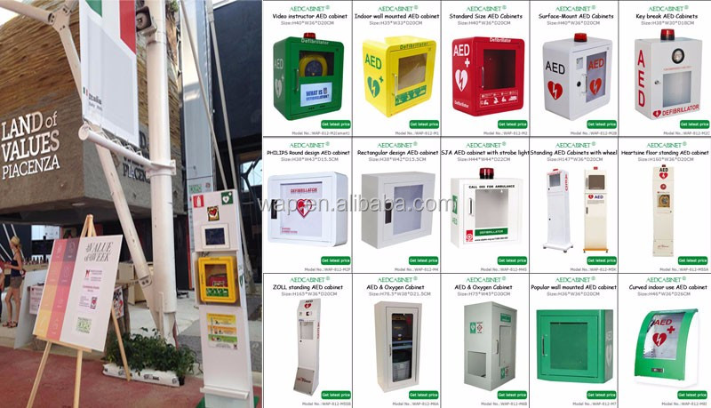 WAP'R Outdoor use Wall Mounted AED Cabinet