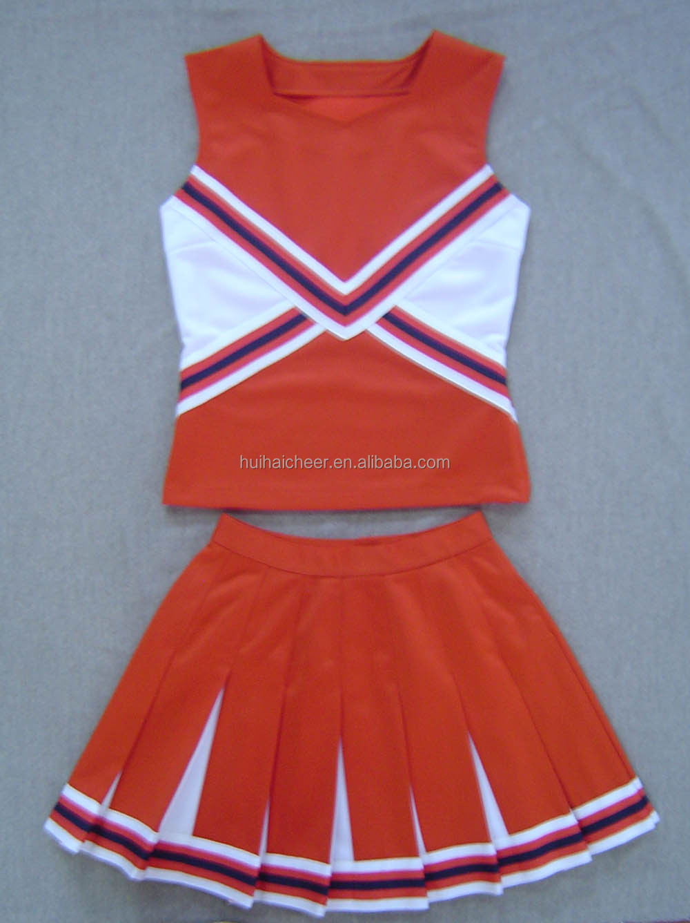 Cheerleading Uniforms Red White Colors