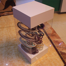 New Design Transparent Acrylic Jewelry Display Cabinet /Display Table /Display Case With 4 Tiers