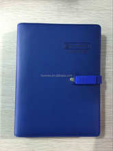 New design USB driver notebook with PU cover