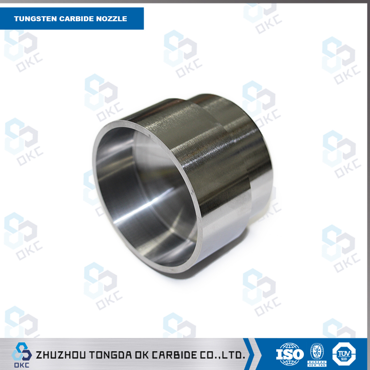 Solid Tungsten carbide nozzle for shot blasting