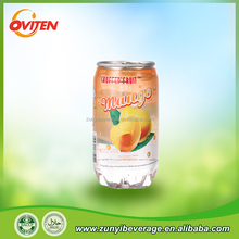 Wholesale China juicy peach,mango carbonated water in can,bottle
