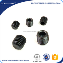 OEM machining black headless set screw,headless set screw