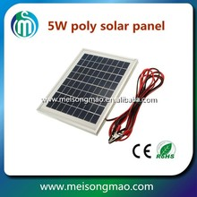 Customized size small photovoltaic solar panel 12V 5W for toys