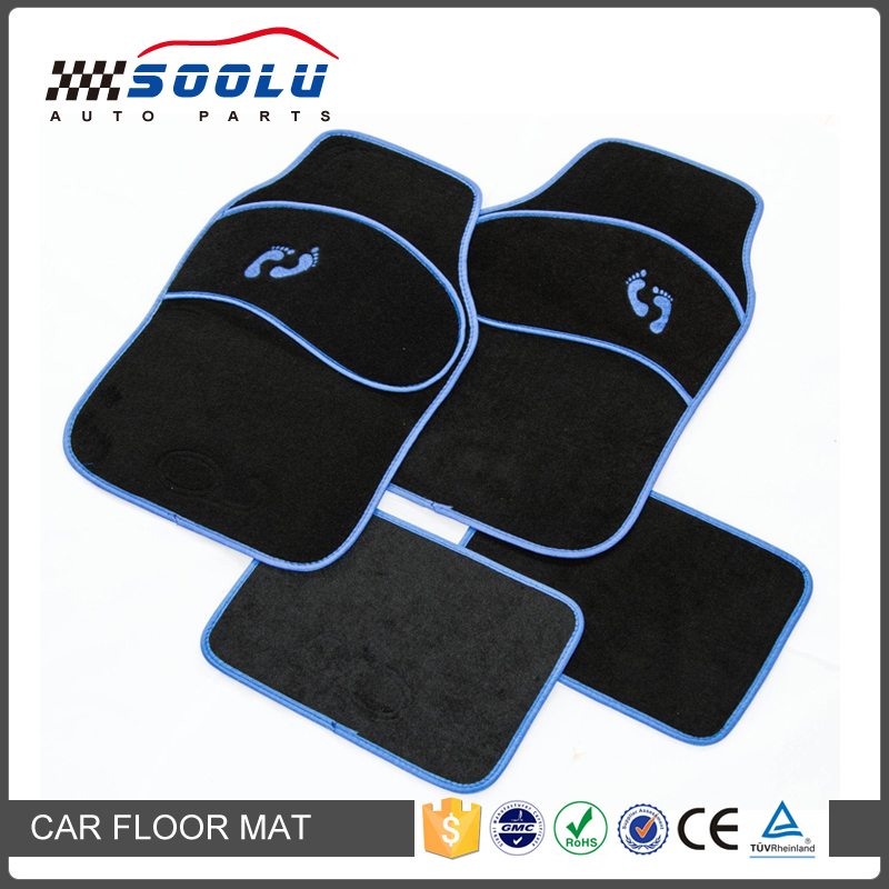 Universal Fit 4pcs Full Set Embroidered Floor Mats For Car