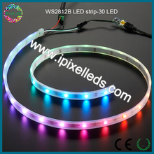 30pcs/m,5 meter per roll,dc5v,5050rgb ws2812b 30 pixel led strip
