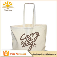 Cheap canvas recycle handmade CMYK printing foldable tote cotton shopping bag