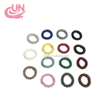 New Rainbow Color Telephone Wire Bracelet Hair Rubber Bands Elastic Hair Scrunchies Ring Rope Ponytail Holder