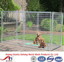 5' x 10' x 6' Heavy duty galvanized 6ft dog kennel cage / cheap outdoor large dog run in low price