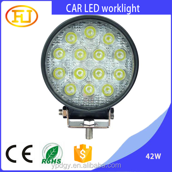 high quality 12v led tractor work light 42w for suv cars