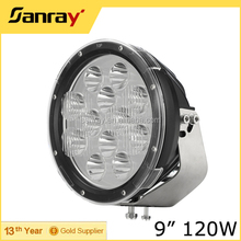 Round 9 inch led driving light, Jeep 4x4 120w led front bumper driving light