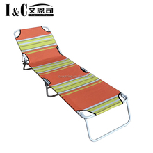 Wholesale folding sun lounger beach sun bed outdoor sunbed steel