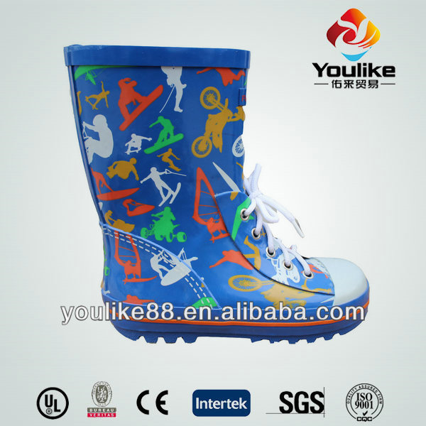YL7070 Kids Lace Up Custom Made Wellington Boots