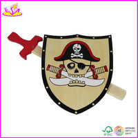 Wooden Sword And Shield Toys For Kids,funny wooden toy cool toy sword W01B006-A2