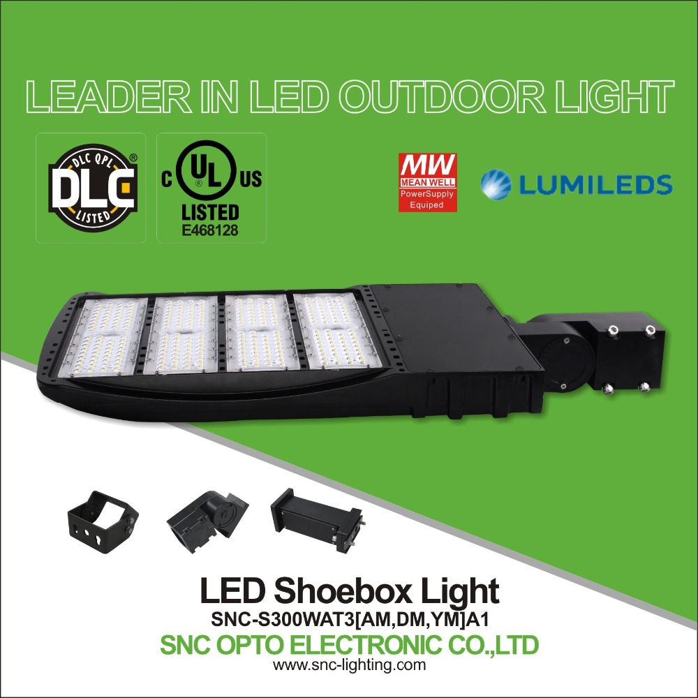 New UL LED parking lot lighting retrofit 300w, Car LED parking light DLC