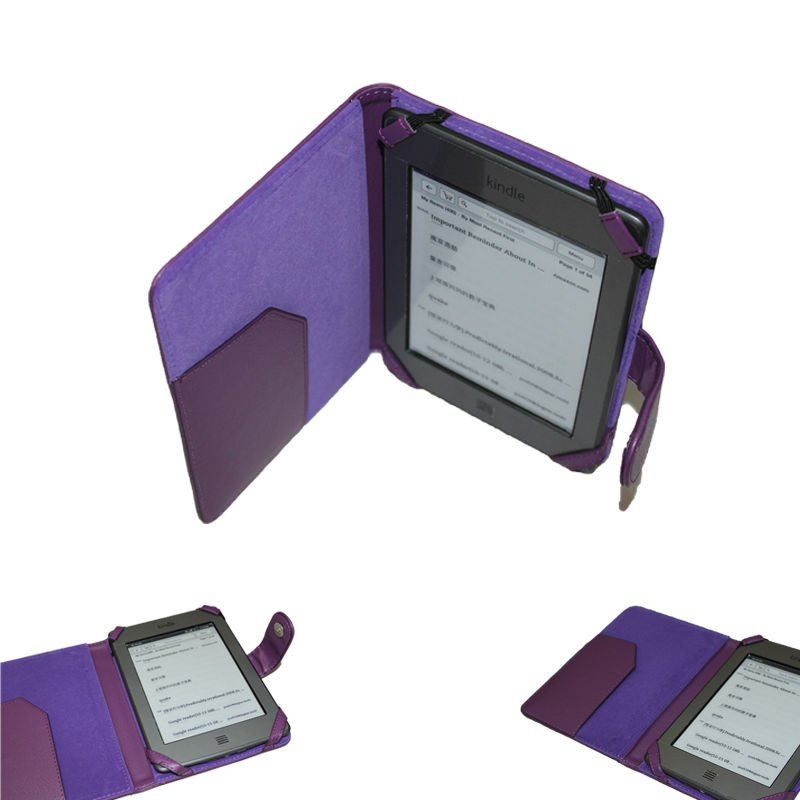 Book Style Leather Case for Amazon Kindle Touch/Touch 3G/kindle 4 E-Reader