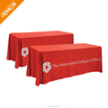 Custom print logo on fitted table cloth table cover