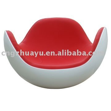 white and red Placentero lounge chair