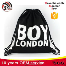 Customized logo print canvas cotton on sling bag shopping bag