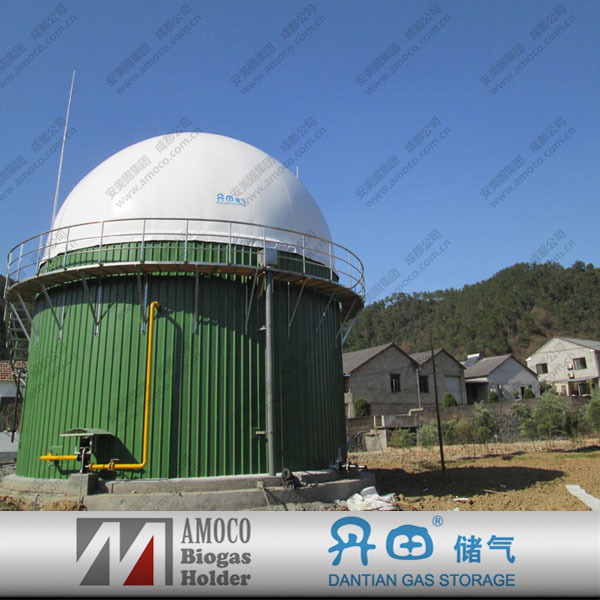 Waste water treatment enamel coated bolted steel tank for biogas equipmment