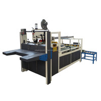 Semi-auto folder gluer corrugated carton packing machinery