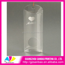 PVC clear plastic folding packaging box for Pillow case