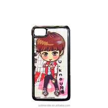 2017 hot sale clear plastic china sublimation phone case for Blackberry Z10