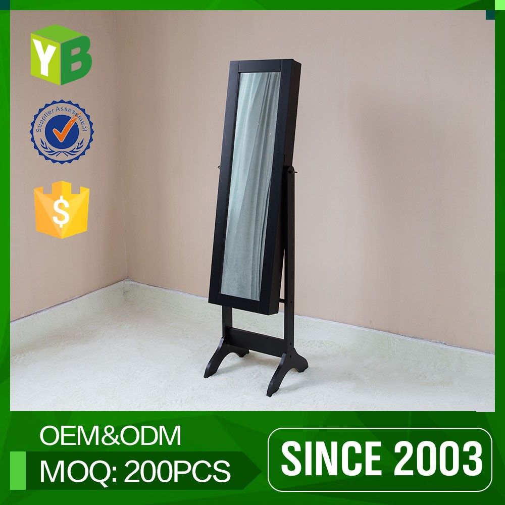 Yibang Simple Design Floor Stand Jewelry Cabinet Mirror Armoire