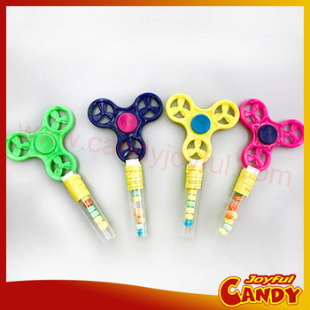 2017 Hot Plastic Fidget Spinners with dextrose candy