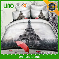 cotton 3d flower printed wholesale bedding romantic/satin bed cover di surabaya