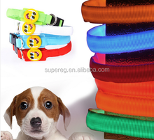collars for dogs LED luminous collar dog supplies glowing dog collar smile face badge