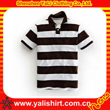 OEM popular professional plain cotton short sleeve blank stripe polo shirts deal men s clothing