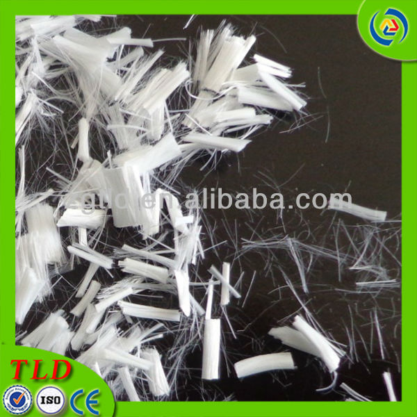 polyester staple fiber in china short cut polyester fiber concrete fiber