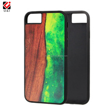 Fast Shipping Newest Rock Wood Element Series Wood TPU Ultra Thin shockproof phone Case For Iphone 7/7 plus