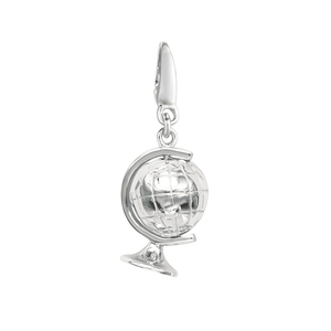 Vintage jewelry 925 sterling silver globe pendant for gift