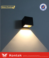 square adjust 6w led wall lamp/lighting fixture