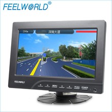 High quality monitor HDMI VGA input remote control 7 inch tft lcd car rearview reverse monitor