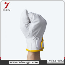 Call anytime cow split safety glass handling leather working gloves