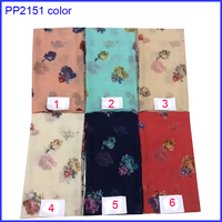 Best-selling coloeful rose flower print scarf hijab
